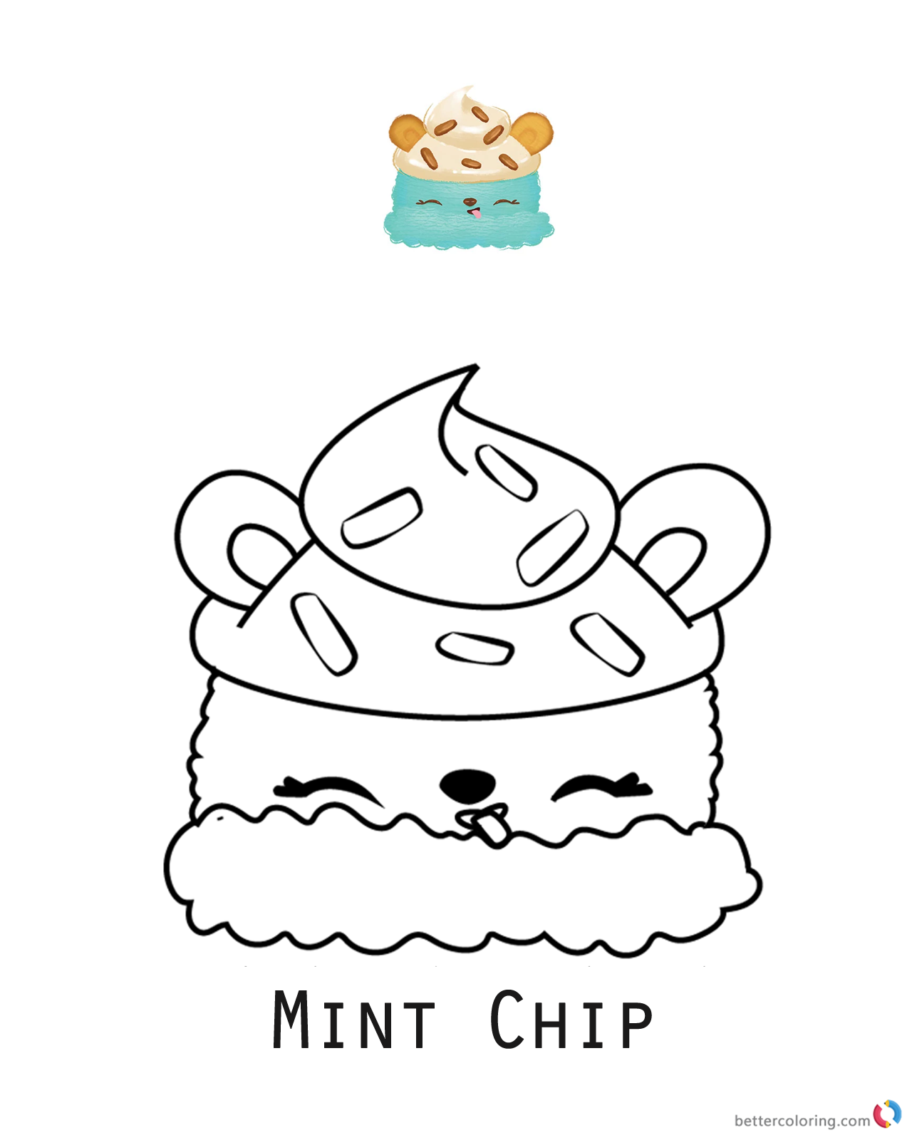 Minty chip num noms coloring pages series 1 free for Num noms coloring pages
