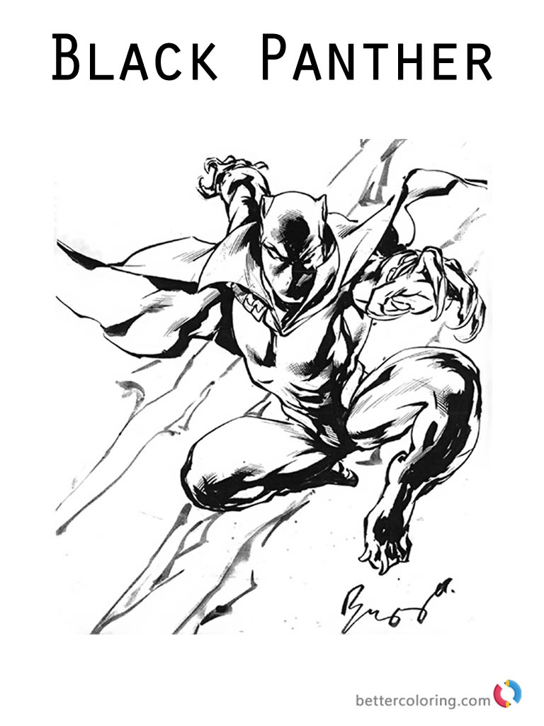Marvel Black Panther Coloring Pages movie - Free Printable ...