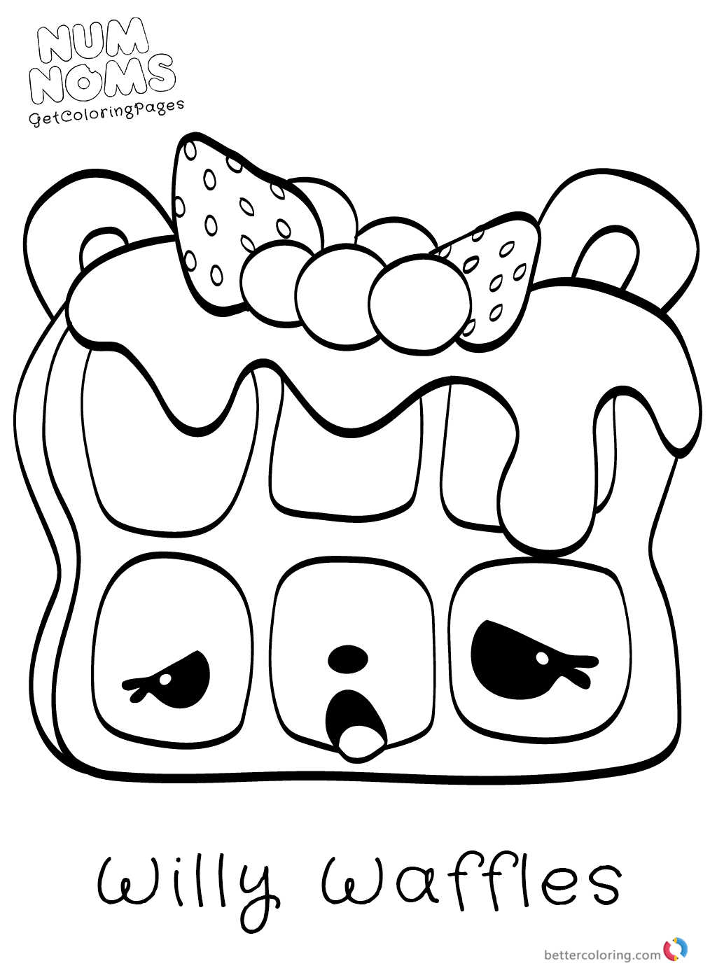 Cute Num Noms Coloring Pages