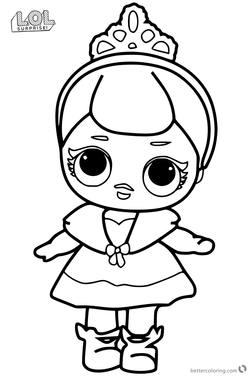 Cute LOL Surprise Doll Coloring Pages Free Printable