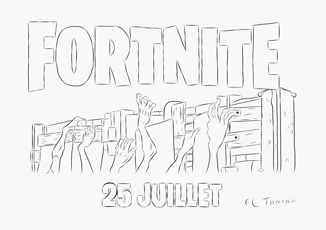 Fortnite Coloring Pages Fan Art