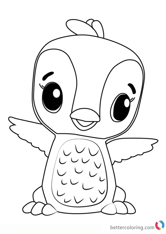 Penguala from Hatchimals Coloring Book - Free Printable ...