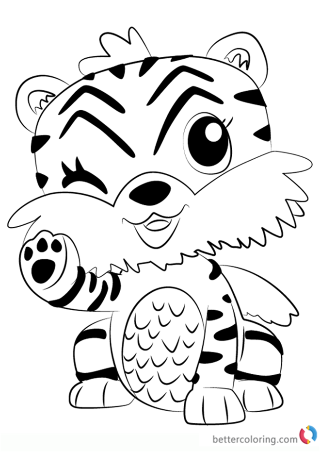 Tigrette from Hatchimals Coloring Pages Free Printable
