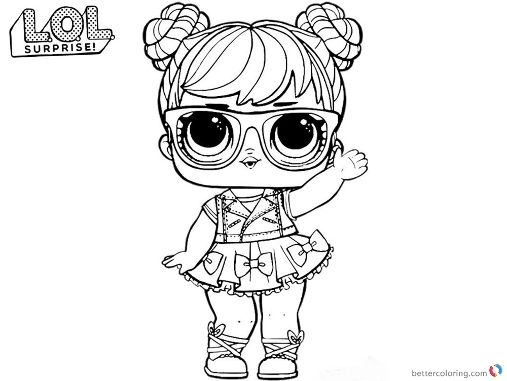 LOL Coloring Pages Big eyes doll - Free Printable Coloring ...