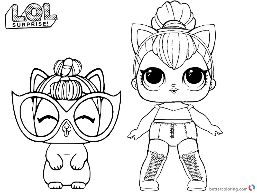 LOL Coloring Pages Kitty Queen - Free Printable Coloring Pages