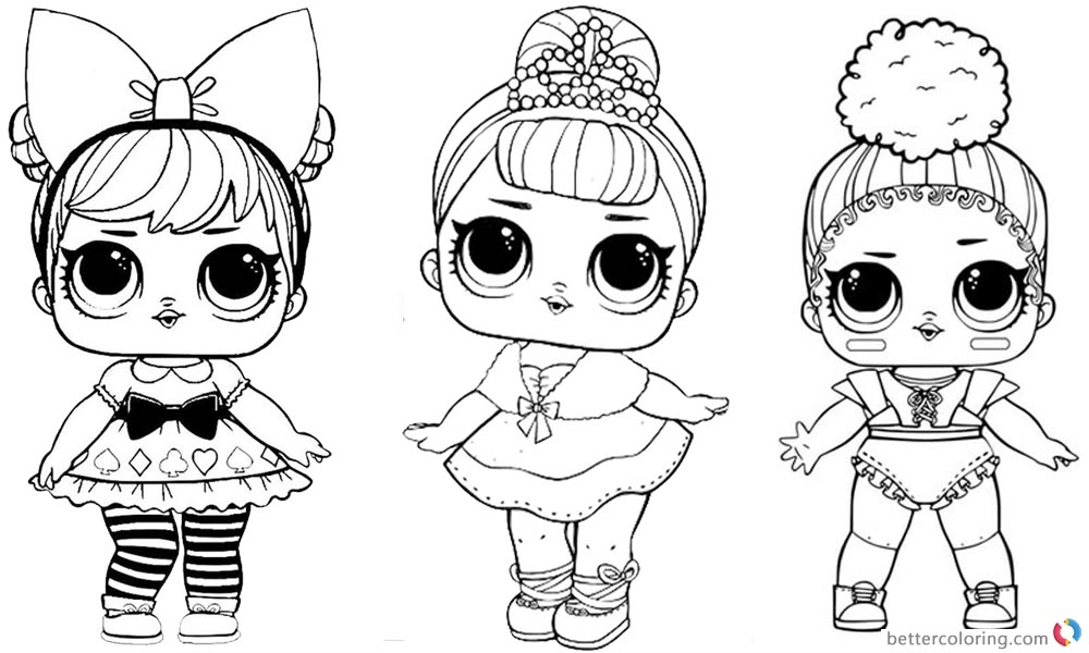 Dynamic image pertaining to lol surprise doll coloring pages printable
