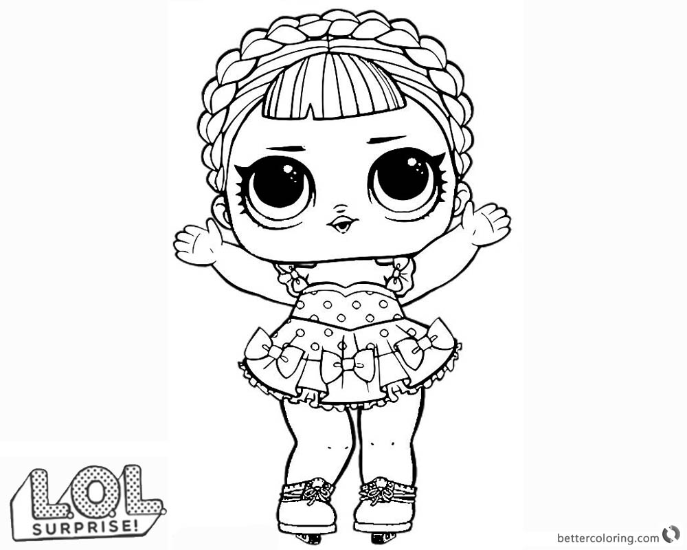 LOL Surprise Doll Coloring Pages Ice Sk8er - Free ...