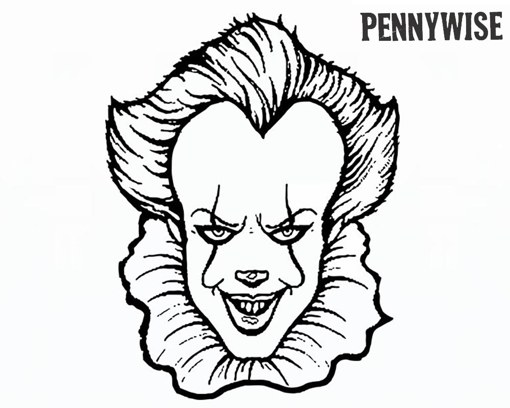 Pennywise Coloring Pages How to Draw Pennywise The Clown