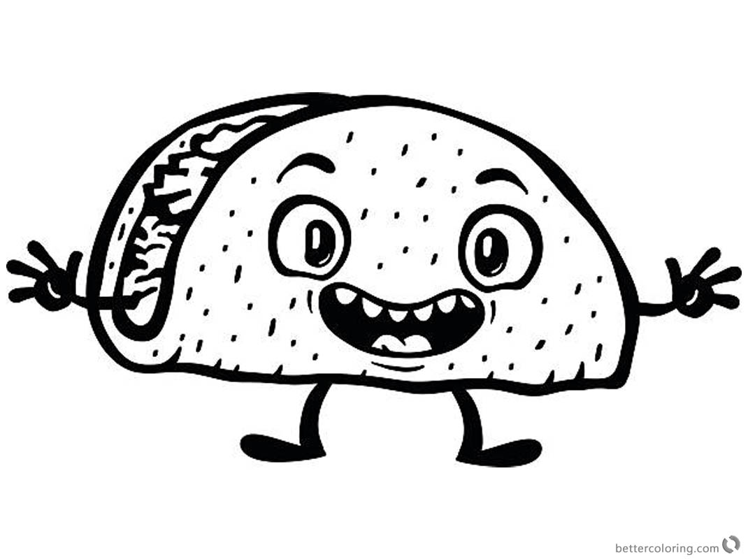 free printable taco coloring pages - photo#15