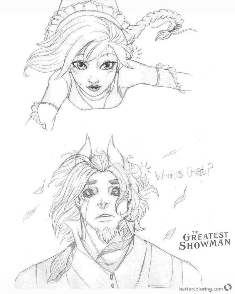 the greatest showman coloring pages | The Greatest Showman Coloring Pages Cartoon Drawing Who is ...