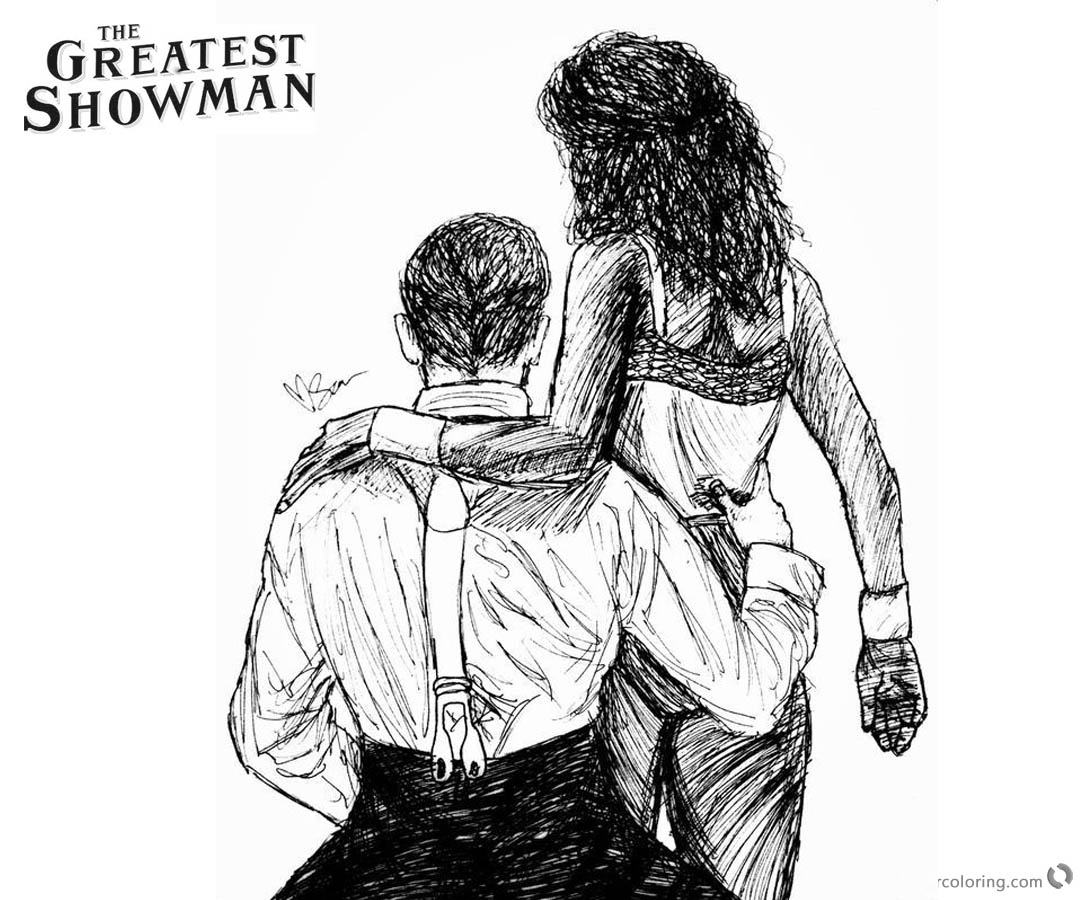the greatest showman coloring pages | The Greatest Showman Coloring Pages Characters at the Back ...