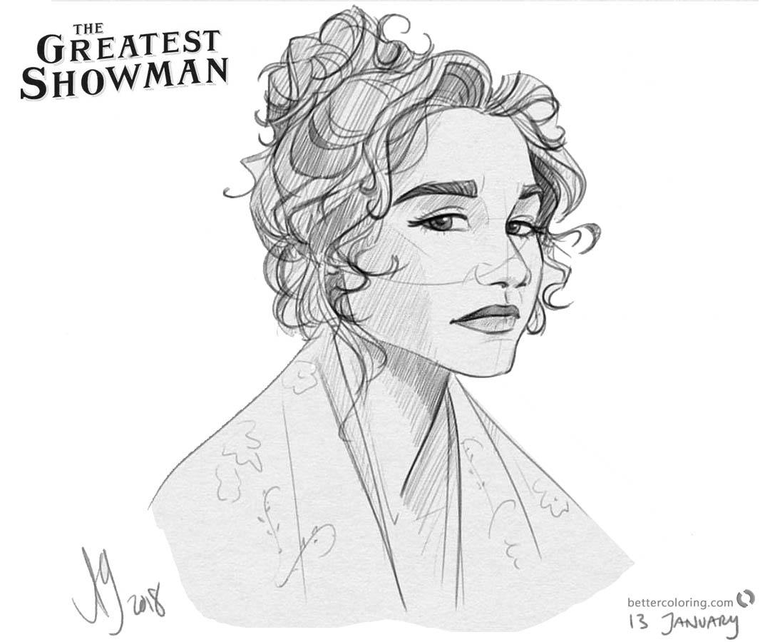 the greatest showman coloring pages | The Greatest Showman Coloring Pages Awesome Fan Art by ...