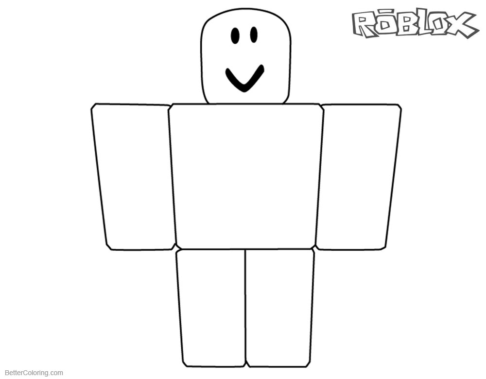 Roblox Noob Coloring Pages Simple