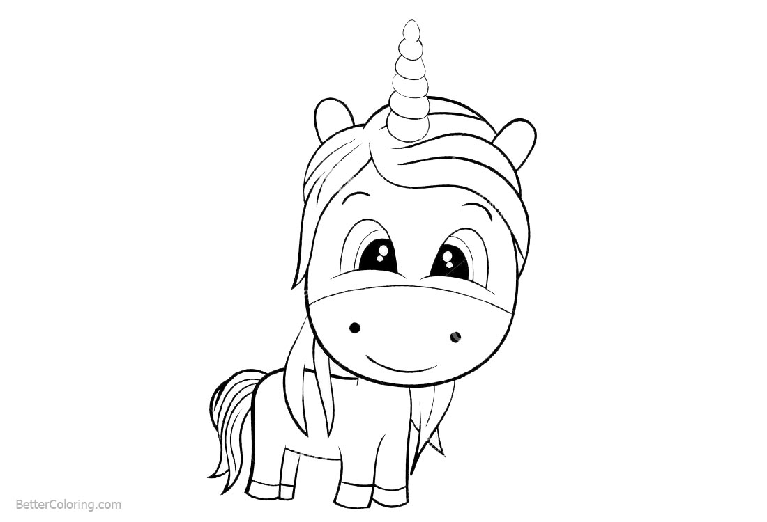 Cute Chibi Unicorn Coloring Pages - Free Printable ...