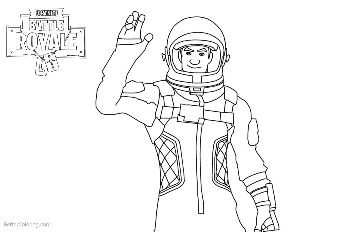 Fortnite Coloring Pages Characters Clipart Free