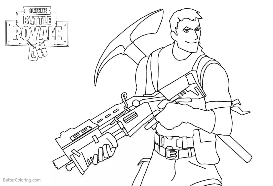 Fortnite Coloring Pages Characters Survivalist Free Printable