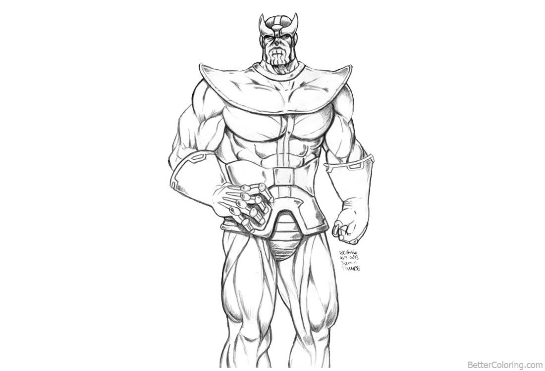 Thanos from Marvel Avengers Infinity War Coloring Pages by ...
