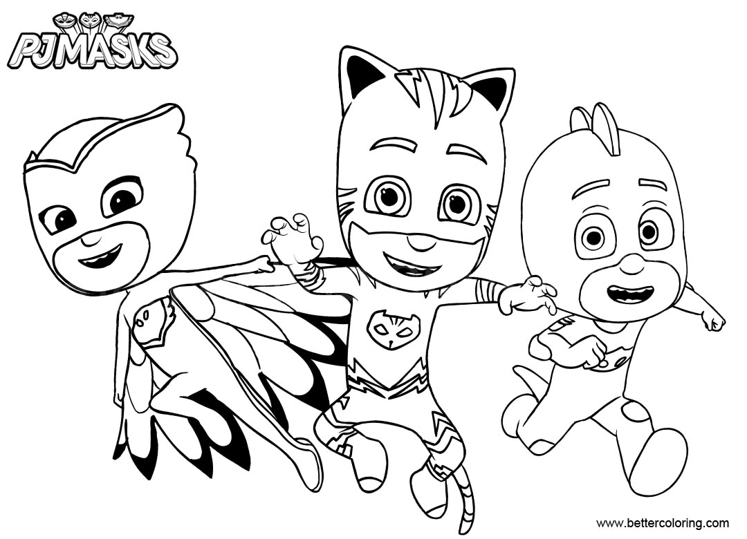Catboy from pj masks coloring pages free printable for Pj masks coloring pages free printable
