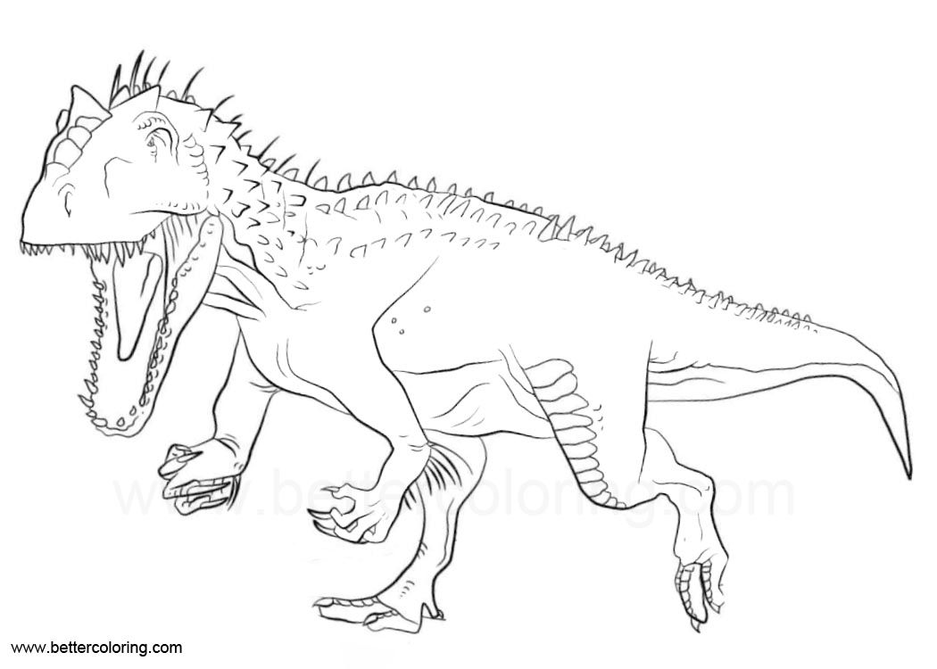 indoraptor coloring pages from jurassic world  free
