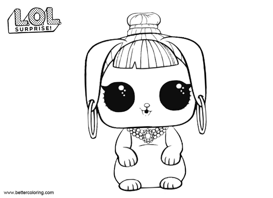 bunny wishes from lol surprise pets coloring pages - free